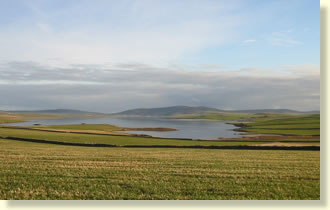 Stenness Loch on the way to Via House